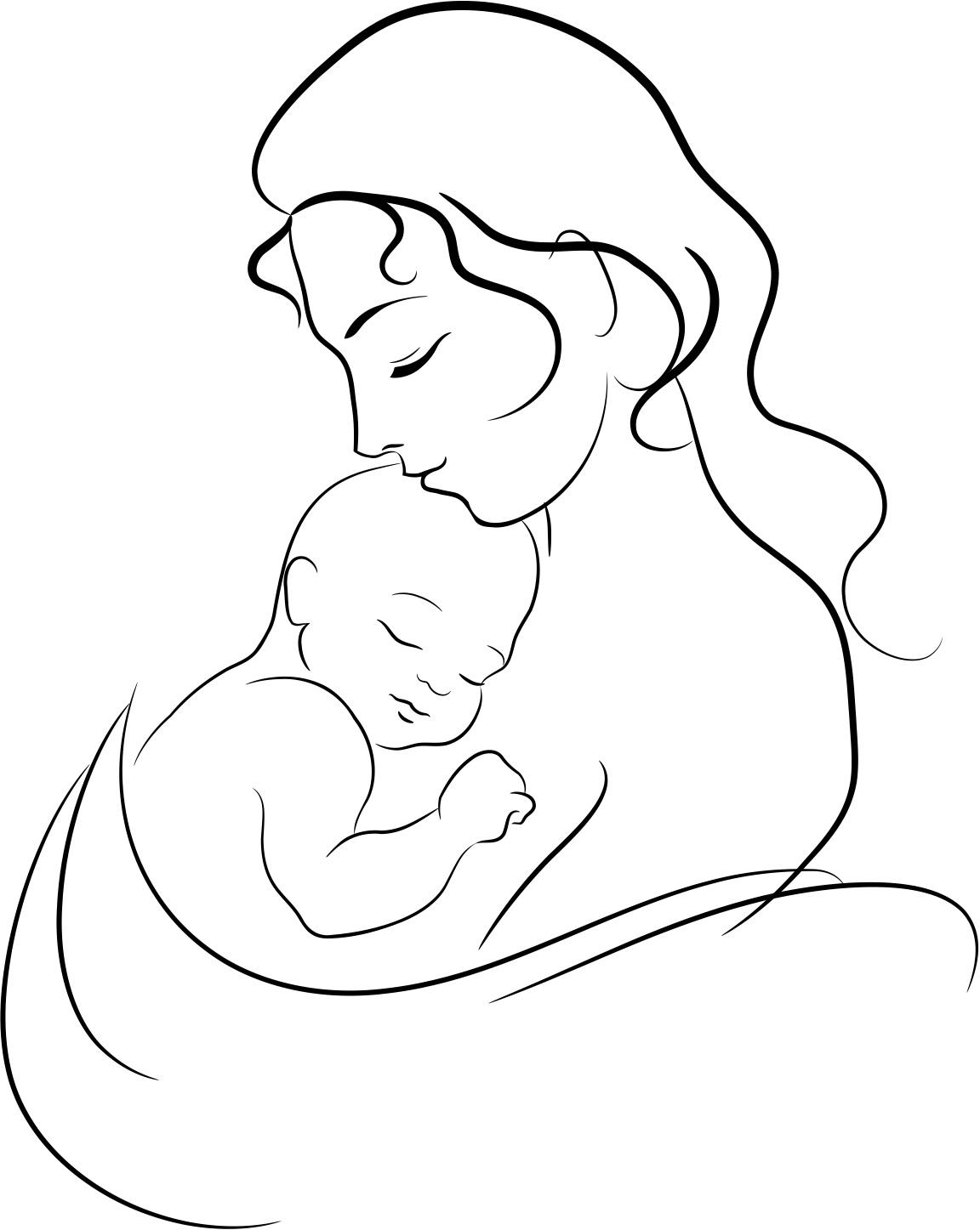 Моя судьба, нарисовать открытку с новорожденным простым карандашом